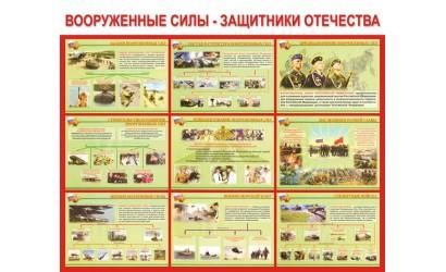 """Стенд """"Вооруженные силы - защитники Отечества"""""""