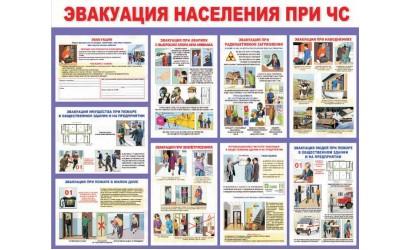 """Стенд """"Эвакуация населения при ЧС"""""""