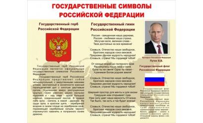 """Стенд """"Государственные символы РФ"""""""