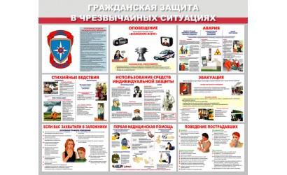 """Стенд """"Гражданская защита в ЧС"""""""