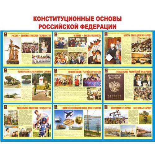 """Стенд """"Конституционные основы Российской Федерации"""""""