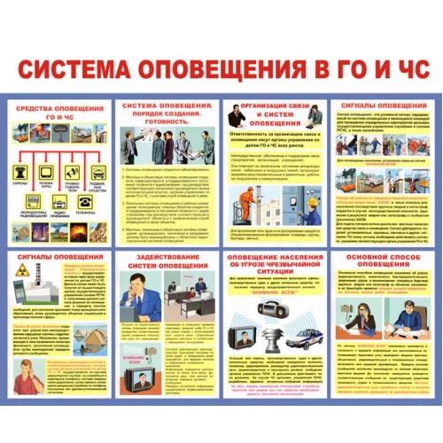 """Стенд """"Система оповещения в ГО и ЧС"""""""