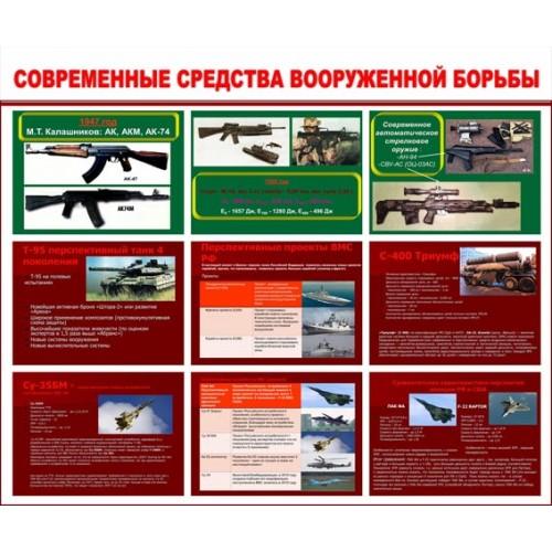 """Стенд """"Современные средства вооруженной борьбы"""""""