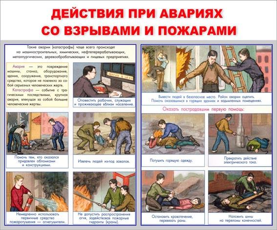 Действия при авариях со взрывами и пожарами